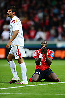 FOOTBALL - FRENCH CHAMPIONSHIP 2010/2011 - L1 - LILLE OSC v OGC NICE - 29/08/2010 - PHOTO GUY JEFFROY / DPPI - DISAPPOINTMENT MOUSSA SOW (LIL)