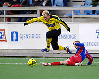 Fotball, Adecco-ligaen, 23.04.06, Tromsdalen - Moss<br /> Tom Reidar Haraldsen (Moss) og Tom Erik Richardsen (Tromsdalen)<br /> Foto: Tom Benjaminsen, Digitalsport