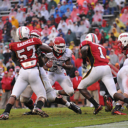 Sep 26, 2009; College Park, MD, USA; Maryland defensive back Terrell Skinner (1) lines up to hit Rutgers running back Jourdan Brooks (39) during the second half of Rutgers' 34-13 victory over Maryland in NCAA college football at Byrd Stadium.
