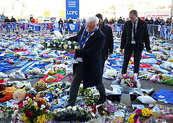 Leicestershire Police and Crime Commissioner Lord Bach lays a wreath at Leicester City Football Club.
