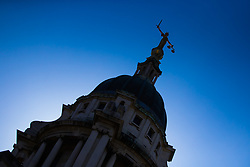 Stock images of the Central Criminal Court buildings known as the Old Bailey. London, March 26 2018.
