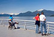 People on Alaska State Ferry Inside Passage