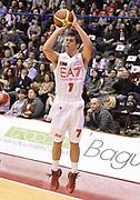 DESCRIZIONE : Milano campionato serie A 2013/14 EA7 Olimpia Milano Vanoli Cremona <br /> GIOCATORE : Bruno Cerella<br /> CATEGORIA : tiro three points<br /> SQUADRA : EA7 Olimpia Milano<br /> EVENTO : Campionato serie A 2013/14<br /> GARA : EA7 Olimpia Milano Vanoli Cremona<br /> DATA : 26/12/2013<br /> SPORT : Pallacanestro <br /> AUTORE : Agenzia Ciamillo-Castoria/R. Morgano<br /> Galleria : Lega Basket A 2013-2014  <br /> Fotonotizia : Milano campionato serie A 2013/14 EA7 Olimpia Milano Vanoli Cremona<br /> Predefinita :
