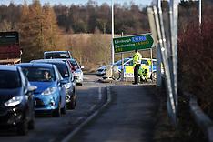 Police car hit by car transporter, Cowdenbeath, 27 February 2020