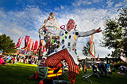 The Thames Festival is an autumn weekend celebration each September on the banks of the river Thames. Professor Kayoss and his host of recycled puppets for 40 minutes of hilarious environmental awareness in Potters field by Tower Bridge.