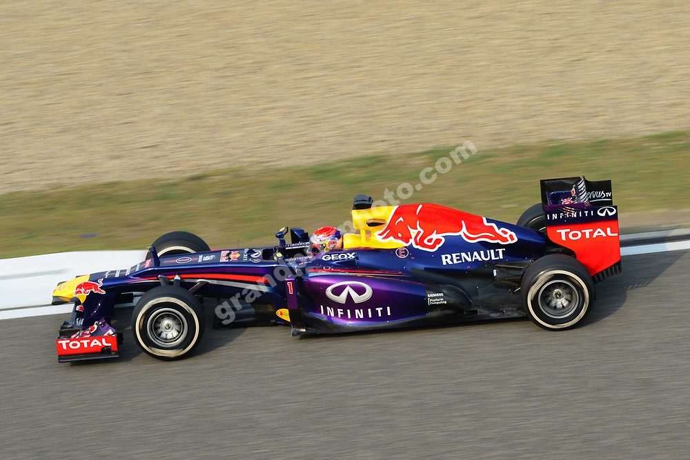 Sebastina Vettel (Red Bull-Renault) during the 2013 Chinese Grand Prix i Shanghai. Photo: Grand Prix Photo