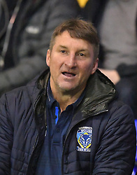 Warrington Wolves' Head Coach Tony Smith during the 2017 Dacia World Club Series match at the Halliwell Jones Stadium, Warrington. PRESS ASSOCIATION Photo. Picture date: Saturday February 18, 2017. See PA story RUGBYL Warrington. Photo credit should read: Dave Howarth/PA Wire. RESTRICTIONS: Editorial use only. No commercial use. No false commercial association. No video emulation. No manipulation of images.