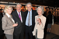 Left to right, LORD & LADY JOPLING and LORD & LADY HOWELL at a party to celebrate the publication of Sandra Howard's new book - Ex-Wives held at Daunt Books, 83 Marylebone High Street, London W1 on 30th April 2012.