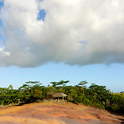 The Seven Coloured Earths, a geological formation in the Chamarel plain of the Rivière Noire District in south-western Mauritius, Mauritius, Indian Ocean, Africa