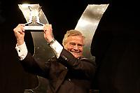 25 NOV 2003, BERLIN/GERMANY:<br /> Prof. Coordt von Mannstein, von Mannstein Werbeagentur GmabH, erhaelt einen Politikaward fuer das Come-Back des Jahres, Verleihung des Politikawards, dbb Forum<br /> IMAGE: 20031125-02-129<br /> KEYWORDS: Politikkongress