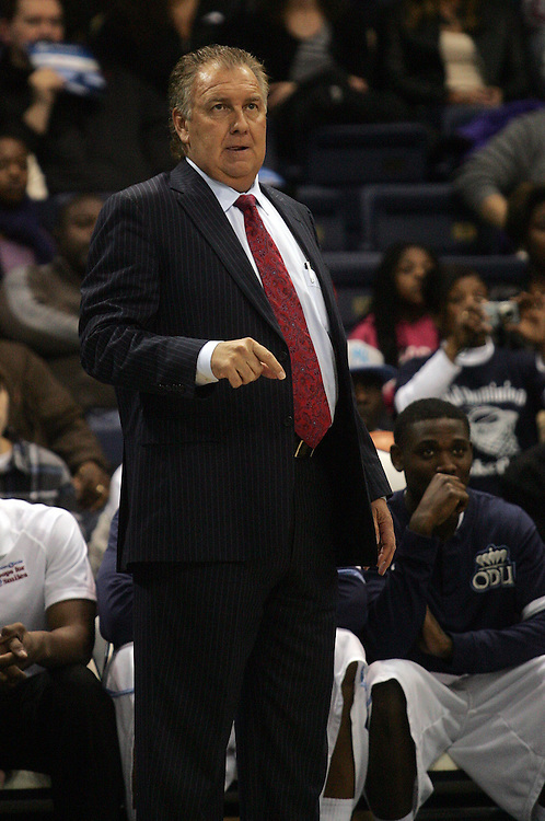 Jan 5, 2012; Norfolk, VA, USA; Old Dominion Monarchs head coach Blaine Taylor against the George Mason Patriots at the Ted Constant Convocation Center. Mandatory Credit: Peter Casey-US PRESSWIRE