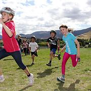 Subway kids Duathlon series. Lake Hayes, Queenstown, New Zealand.