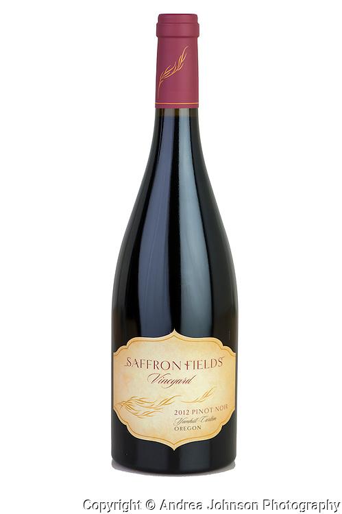 Saffron Fields Vineyard bottle shot vintage 2012, Yamhill, Willamette Valley, Oregon