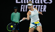 Simona Halep of Romania in action during her second round match at the 2020 Australian Open, WTA Grand Slam tennis tournament on January 23, 2020 at Melbourne Park in Melbourne, Australia - Photo Rob Prange / Spain ProSportsImages / DPPI / ProSportsImages / DPPI