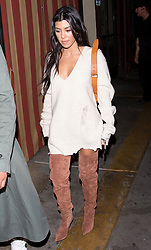 Kourtney Kardashian and her new model boyfriend Younes Bendjima were seen leaving sister Kim's 37th Birthday family and friends dinner at the 'Carousel' Lebanese and Armenian Restaurant in Los Feliz, CA. 26 Oct 2017 Pictured: Kourtney Kardashian. Photo credit: MEGA TheMegaAgency.com +1 888 505 6342