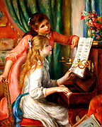 Pierre Auguste Renoir 1841-1919, Girls at a piano, 1892.