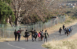 South Africa - Durban - 23 June 2020 - Pupils at Masijabule High school in Swayimane, outside Pietermaritzburg are dismissed early in the day as they are still in shock after 6 of their teachers were injured when a taxi they were travelling in was ambushed and shot at by uknown gunmen<br /> Picture: Doctor Ngcobo/African News Agency(ANA)