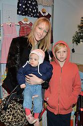 LONDON, ENGLAND 1 DECEMBER 2016: Jade Parfitt, Tabitha Dyson, Jackson Burgess at the 10th birthday party for the toy shop HoneyJam, 2 Blenheim Crescent, Notting Hill, London, England. 1 December 2016.
