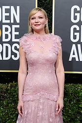 Nominee, Kirsten Dunst, arrives at the 77th Annual Golden Globe Awards at the Beverly Hilton in Beverly Hills, CA on Sunday, January 5, 2020.