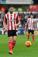 Southampton's Graziano Pelle in action. Barclays Premier league match, Swansea city v Southampton at the Liberty Stadium in Swansea, South Wales on Saturday 13th February 2016.<br /> pic by  Carl Robertson, Andrew Orchard sports photography.