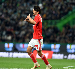 LISBON, Feb. 4, 2019  Joao Felix of Benfica celebrates after scoring during the Portuguese League soccer match between SL Benfica and Sporting CP in Lisbon, Portugal, Feb. 3, 2019. Benfica won 4-2. (Credit Image: © Xinhua via ZUMA Wire)
