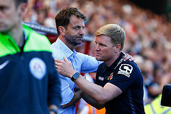 AFC Bournemouth manager Eddie Howe greets Aston Villa Manager Tim Sherwood - Mandatory by-line: Jason Brown/JMP - Mobile 07966 386802 08/08/2015 - FOOTBALL - Bournemouth, Vitality Stadium - AFC Bournemouth v Aston Villa - Barclays Premier League - Season opener