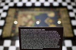 Prostozidarska razstava v Narodnem muzeju, replika templja, Tapis ljubljanske lože Valentin Vodnik<br /> // Exhibition of Freemasonry in Slovenia and press conference organised by Grand Lodge of Slovenia, on March 17, 2017 in Narodni muzej Slovenije, Ljubljana, Slovenia. Photo by Vid Ponikvar / Sportida