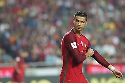 October 10, 2017 - Lisbon, Portugal - Portugal's forward Cristiano Ronaldo gestures during the 2018 FIFA World Cup qualifying football match between Portugal and Switzerland at the Luz stadium in Lisbon, Portugal on October 10, 2017. Photo: Pedro Fiuza  (Credit Image: © Pedro Fiuza/NurPhoto via ZUMA Press)
