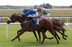 Terzetto ridden by Colm O'Donoghue (left) wins The Irish Stallion Farms EBF Fillies Handicap during day two of the Darley Irish Oaks Weekend at Curragh Racecourse, County Kildare.