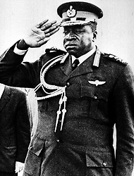APRIL 1974 picture of Idi Amin, the Ugandan President who gave Ugandan Asians three months to leave the country in 1972. A thanksgiving service at Westminster Abbey today (Thursday) marks the arrival of nearly 30,000 Ugandan Asians in Britain 25 years ago.  See PA Story SOCIAL Uganda.  Photo PA available in Black and White only.