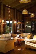 Interior detail of Tufi dive resort, Tufi, Cape Nelson, Oro Province, Papua New Guinea