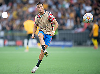 BERN, SWITZERLAND - SEPTEMBER 14: Cristiano Ronaldo of Manchester United warming up before the UEFA Champions League group F match between BSC Young Boys and Manchester United at Stadion Wankdorf on September 14, 2021 in Bern, Switzerland. (Photo by FreshFocus/MB Media)