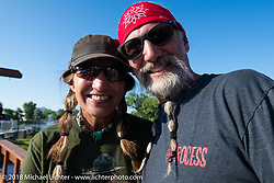 Deb and Reed Holmes at the Sportster Showdown Bike Show presented by Led Sled and Biltwell at the Buffalo Chip during the 78th annual Sturgis Motorcycle Rally. Sturgis, SD. USA. Tuesday August 7, 2018. Photography ©2018 Michael Lichter.