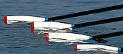 2005 FISA Rowing World Cup Munich,GERMANY. 18.06.2005;.GBR W4X GB Women's Quad moves away from the start, in their Sat. final at the FISA World Cup Regatta in Munich. Bow Rebecca Romero, Sarah Winckless, and Katherine Grainger..Photo  Peter Spurrier. .email images@intersport-images[Mandatory Credit Peter Spurrier/ Intersport Images] Rowing Course, Olympic Regatta Rowing Course, Munich, GERMANY Equipment