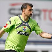 Kasimpasaspor's goalkeeper Murat SAHIN during their Turkish superleague soccer match Kasimpasaspor between Fenerbahce at the Recep Tayyip Erdogan stadium in Istanbul Turkey on Sunday 25 April 2010. Photo by Aykut AKICI/TURKPIX