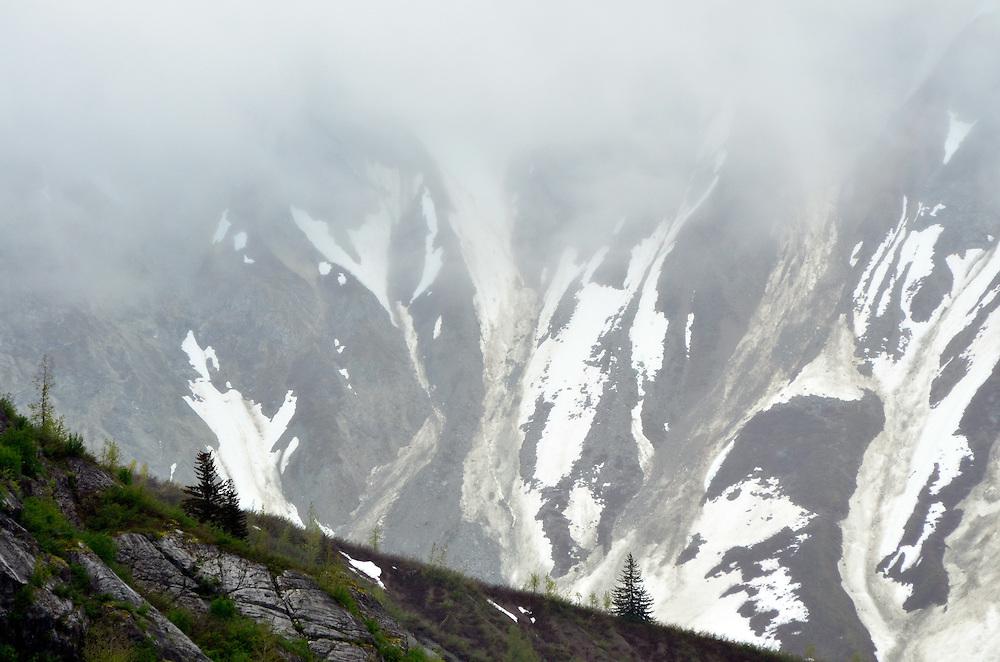 Mountain and ridge in Glacier Bay National Park, Alaska.