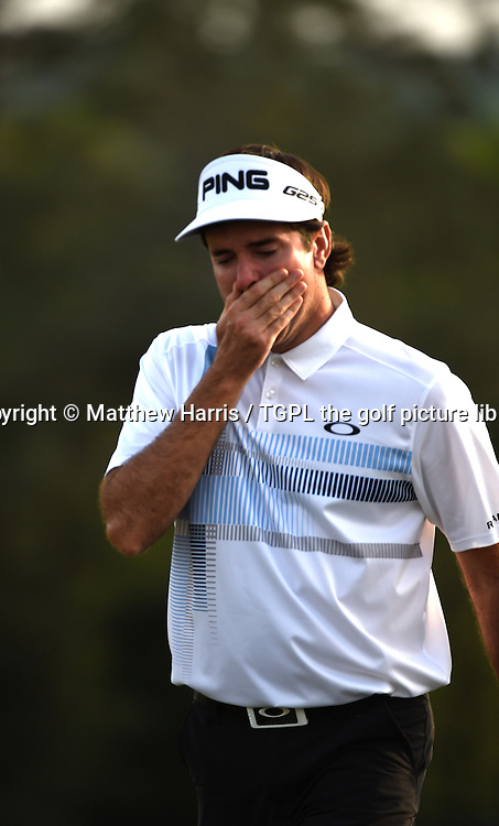 Bubba WATSON (USA)  cries after winning his second Masters title at 18th during fourth round US Masters 2014,Augusta National,Augusta, Georgia,USA.