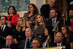 FEBRUARY 5, 2019 - WASHINGTON, DC: Jared Kushner, Ivanka Trump, Lara Trump, Eric Trump, and Donald Trump, Jr. during the State of the Union address at the Capitol in Washington, DC, USA on February 5, 2019. Photo by Doug Mills/Pool via CNP/ABACAPRESS.COM