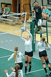 26 August 2017:  Leah Seielstad during the green-white scrimmage of the Illinois Wesleyan Titans in Shirk Center, Bloomington IL