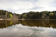 Tauernteich, a small lake in the forest in the hills above Ossiach, on the Alpe Adria Trail, Carinthia, Austria © Rudolf Abraham