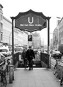 Berlin, GERMANY, General Views, GVs.  U Bahn, Karl Marx Strasse, Wednesday - 14/01/2009 {Mandatory Credit/Peter Spurrier] Street Photos