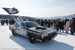 Big Boys - Big Toys mechanic Ilya Drozhzhev driving a 1981 Chevy Monte Carlo at the Baikal Mile Ice Speed Festival. Maksimiha, Siberia, Russia. Saturday, February 29, 2020. Photography ©2020 Michael Lichter.