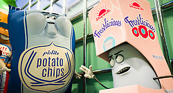 Pislitz Potato Chips (Vincent Tong) and Douche (Nick Kroll) in Columbia Pictures' SAUSAGE PARTY.