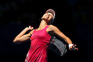 PERTH, AUSTRALIA - DECEMBER 31:  Ana Ivanovic of Serbia serves in her singles match against Francesca Schiavone of Italy during day three of the Hopman Cup at Perth Arena on December 31, 2012 in Perth, Australia.  (Photo by Paul Kane/Getty Images)
