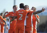 CELE - Blackpool's Kyle Vassell celebrates scoring the opening goal <br /> <br /> Photographer Ashley Crowden/CameraSport<br /> <br /> The EFL Sky Bet League One - Bristol Rovers v Blackpool - Saturday 23rd September 2017 - Memorial Stadium - Bristol<br /> <br /> World Copyright © 2017 CameraSport. All rights reserved. 43 Linden Ave. Countesthorpe. Leicester. England. LE8 5PG - Tel: +44 (0) 116 277 4147 - admin@camerasport.com - www.camerasport.com