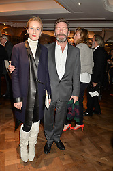 MATT COLLISHAW and POLLY MORGAN at a party to celebrate the publication of 'Let's Eat meat' by Tom Parker Bowles held at Fortnum & Mason, Piccadilly, London on 21st October 2014.
