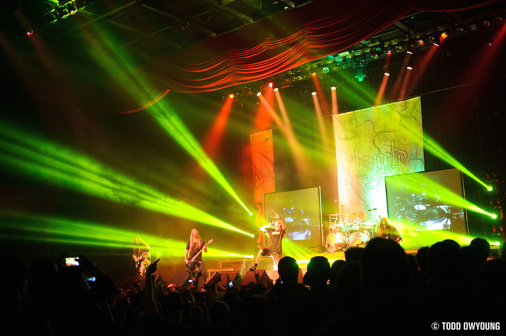 Atmosphere during Lamb of God's performance at the Pageant in St. Louis on November 7, 2012.