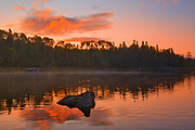 Reflection in Middle Lake at sunrise<br />