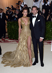 May 7, 2018 - New York, New York, United States - Irina Shayk and Bradley Cooper arriving at Heavenly Bodies: Fashion & The Catholic Imagination Costume Institute Gala at the Metropolitan Museum of Art on May 7, 2018 in New York City  (Credit Image: © Kristin Callahan/Ace Pictures via ZUMA Press)