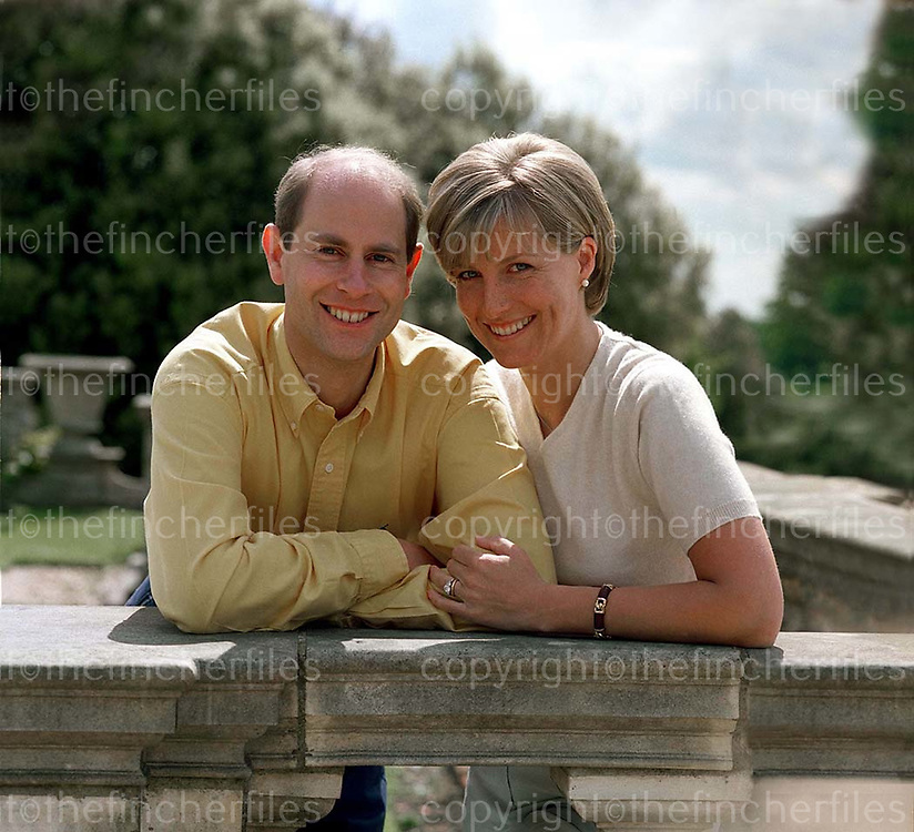 The Duke and Duchess of Wessex seen at their home Bagshot Park,Surrey in 2001. Exclusive photograph by Jayne Fincher